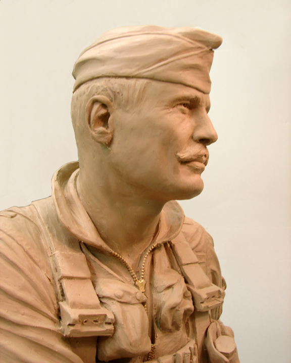 "Click Photo to return to the ""Air Warrior Sculpture"" Page"